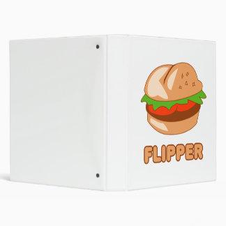Burger Flipper 3 Ring Binder