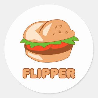 Burger Flipper Classic Round Sticker