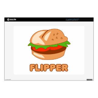"Burger Flipper Decal For 15"" Laptop"
