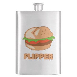 Burger Flipper Hip Flask