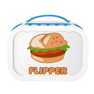 Burger Flipper Lunch Box