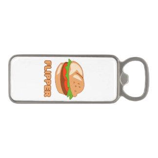 Burger Flipper Magnetic Bottle Opener