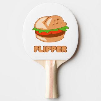 Burger Flipper Ping Pong Paddle