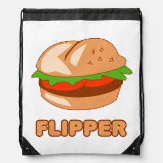 Burger Flipper Drawstring Backpack