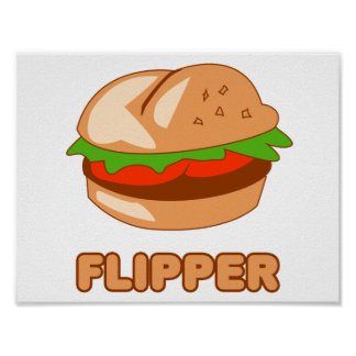Burger Flipper Poster
