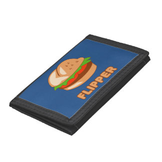 Burger Flipper Trifold Wallets