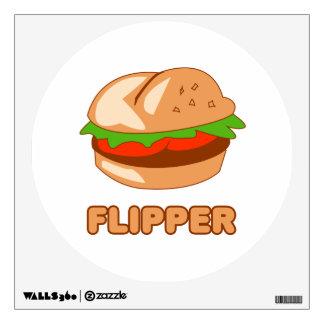 Burger Flipper Wall Stickers
