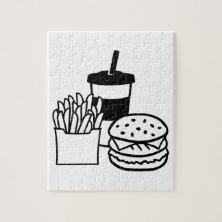 Burger french fries drink jigsaw puzzle