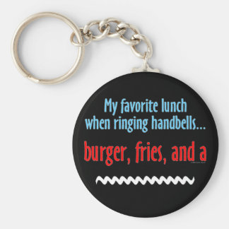 Burger, Fries and a Shake Basic Round Button Keychain
