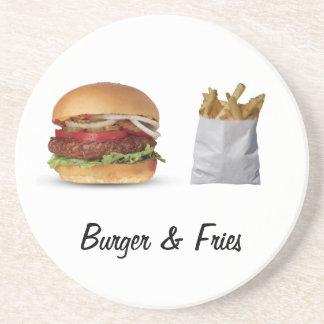 BURGER & FRIES BEVERAGE COASTERS