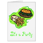 Burger & Fries Card