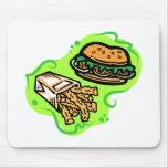 Burger & Fries Mouse Pads