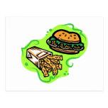 Burger & Fries Post Card