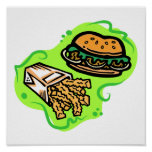 Burger & Fries Print