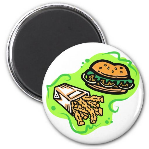 Burger & Fries Refrigerator Magnet