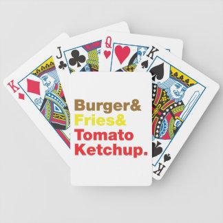 Burger & Fries & Tomato Ketchup. Bicycle Playing Cards