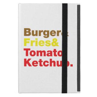 Burger & Fries & Tomato Ketchup. Case For iPad Mini