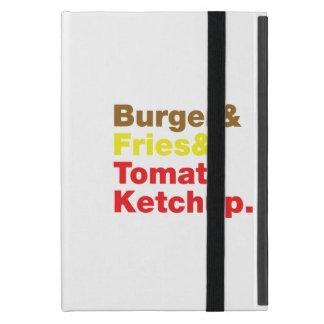 Burger & Fries & Tomato Ketchup. iPad Mini Cover