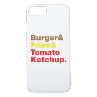 Burger & Fries & Tomato Ketchup. iPhone 8/7 Case