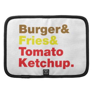 Burger & Fries & Tomato Ketchup. Organizer