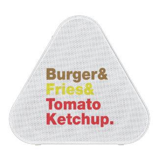 Burger & Fries & Tomato Ketchup. Speaker