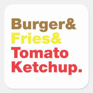 Burger & Fries & Tomato Ketchup. Sticker