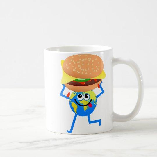 Burger Globe Coffee Mug