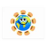 Burger Globe Postcards