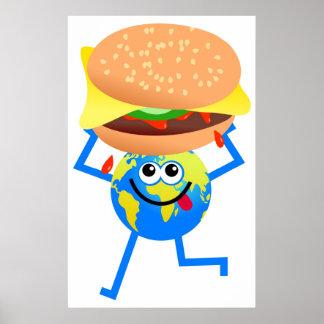 Burger Globe Posters