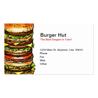 Burger Hut Double-Sided Standard Business Cards (Pack Of 100)