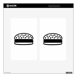 Burger icon decal for kindle fire