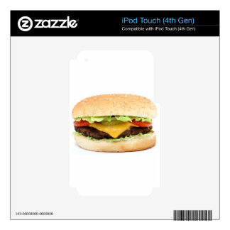 burger iPod touch 4G decal