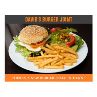 Burger Joint Opening   Now Open   Direct Mail Postcard