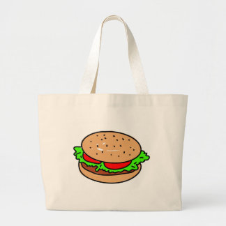 burger large tote bag