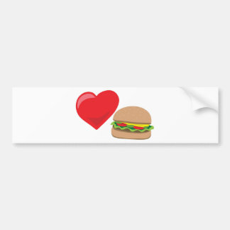 Burger Love!  Customizable: Bumper Sticker
