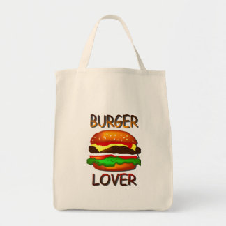 Burger Lover Hamburger  Grocery Tote Bag