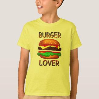 Burger Lover Hamburger Kids Yellow T-shirt