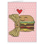Burger Loves Fries Card