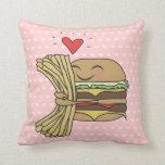 Burger Loves Fries Pillows