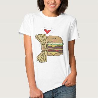 Burger Loves Fries Tee Shirt