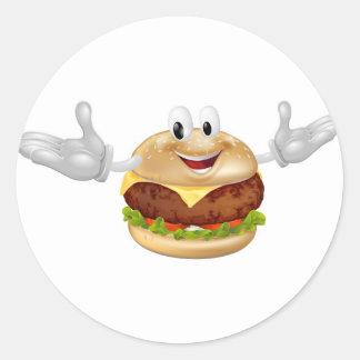 Burger Mascot Man Stickers