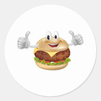 Burger Mascot Sticker