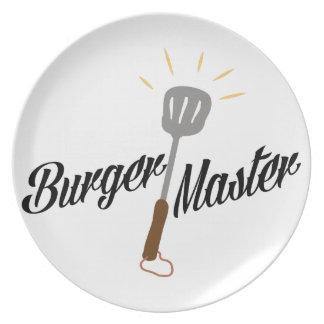 Burger Master Party Plates