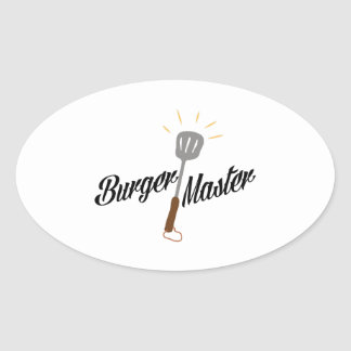 Burger Master Oval Sticker
