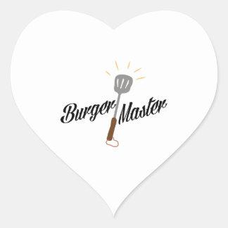 Burger Master Heart Sticker