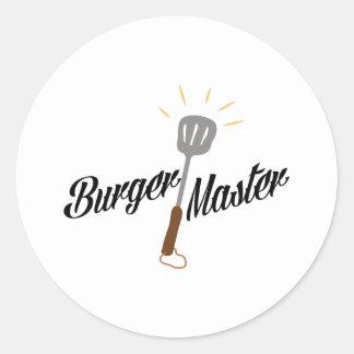 Burger Master Round Sticker