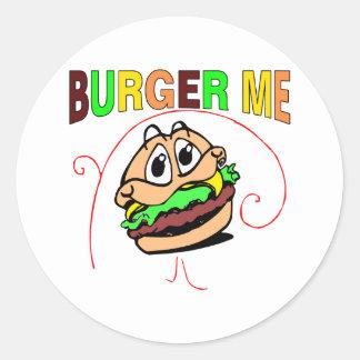 Burger Me Classic Round Sticker