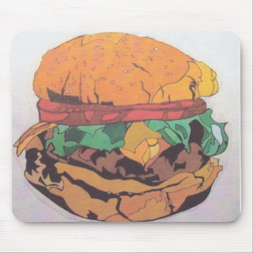 Burger Mouse Pad