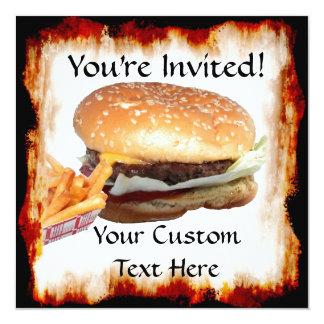 Burger 'n Fries Invitation