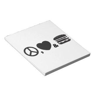 Burger Notepad